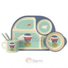 Набор посуды Берни Eco - Пес-летчик из бамбукового волокна