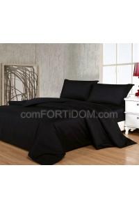 Постельное бельё Комфорт Текстиль - Black (Чёрный) Сатин Elit однотон