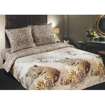 Постельное бельё Комфорт Текстиль - Леопарды Поплин