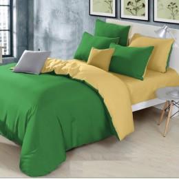 Постельное бельё Moon Love - G03 Микс green+yellow Ранфорс люкс