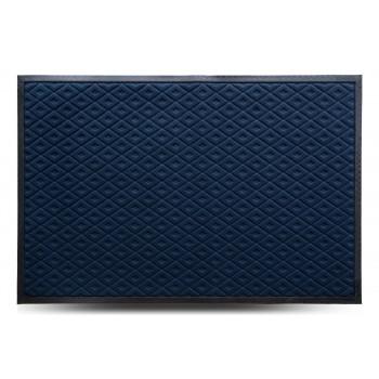 Коврик придверный MX, синий, 80х120 см
