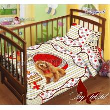 Постельное бельё ТАГ - Дружок Поплин в кроватку